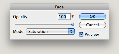 Fade with blending mode