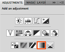 Add Gradient Map adjustment layer