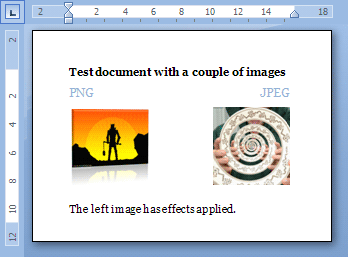 Word Document with images