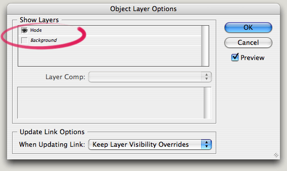 object layer options