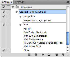 Action that sets 300 ppi saves as TIFF
