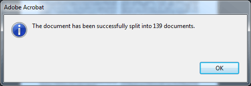 Successfully split