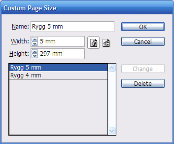Custom Page Sizes